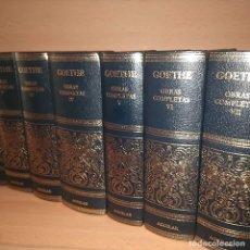 Libros: JOHANN W. GOETHE. OBRAS COMPLETAS (7 VOLUMENES) - GOETHE, JOHANN W.. Lote 179347206