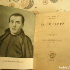 Libros: EL CRITERIO. Lote 180046696