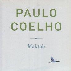 Libros: MAKTUB - COELHO, PAULO. Lote 180082251
