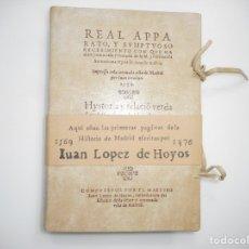 Libros: HISTORIA Y RELACIÓN VERDADERA DE LA ENFERMEDAD, FELICISSIMO TRANSITO, Y SVMPTVOSAS ...Y96575. Lote 180095051