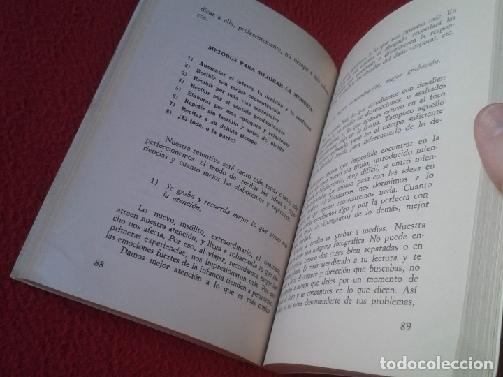 Libros: LIBRO EFICIENCIA SIN FATIGA EN EL TRABAJO MENTAL N. IRALA S. J. POR LA ATENCIÓN PERFECTA 1971 , 224P - Foto 3 - 180119607