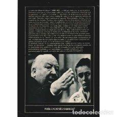 Libros: ALFRED HITCHCOCK. EL PODER DE LA IMAGEN - ALBERICH, ENRIC. Lote 180132223