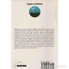 Libros: CUÁNTO ES BASTANTE. LA SOCIEDAD DE CONSUMO Y EL FUTURO DE LA TIERRA - THEIN DURNING, ALAN. Lote 180132250