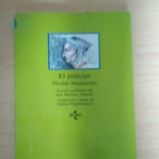 Libros: NICOLÁS MAQUIAVELO - EL PRÍNCIPE . Lote 180347521