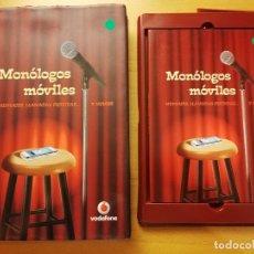 Libros: MONÓLOGOS MÓVILES. MENSAJES, LLAMADAS PERDIDAS... Y HUMOR (LIBRO + DVD). Lote 180511292