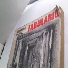 Libros: FABULARIO HERMANN HESSE - HERMANN HESSE. Lote 180635482