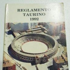Libros: REGLAMENTO TAURINO - 1992 - COMENTADO PEDRO MARIA AZOFRA - LOGROÑO - TDK162. Lote 180898737