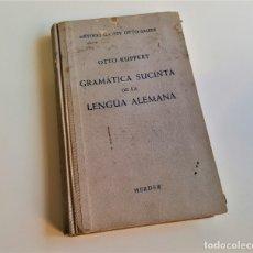 Libros: 1957 GRAMATICA SUCINTA DE LA LENGUA ALEMANA - HERDER 13X20.CM APROX. Lote 180978615