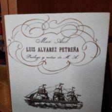 Libros: LUIS ÁLVAREZ PETREÑA, MAX AUB,EDICIÓN FACSÍMIL DE LA EDICIÓN DE 1934 MIRACLE, FUNDACIÓN MAX AUB 2005. Lote 181009968