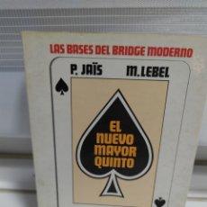 Libros: LAS BASES DEL BRIDGE MODERNO. LA BIBLIA DEL BRIDGE / P. PAIS - M. LEBEL / 1985. LUMEN. Lote 181157247