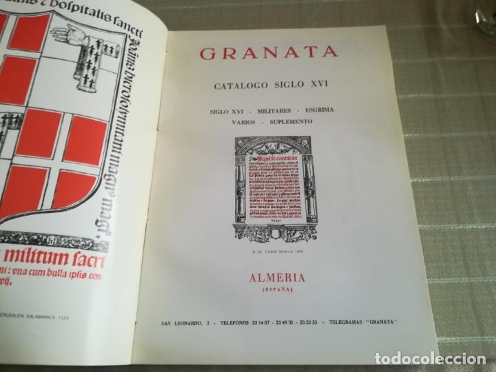 GRANATA: LIBROS ANTIGUOS CATALOGO SIGLO XVI (Libros sin clasificar)