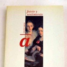 Libros: JUICIO Y SENTIMIENTO. Lote 181784050