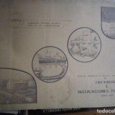 Libros: CAMPSA FACTORÍAS E INSTALACIONES PORTUARIAS DE ESPAÑA JUNIO 1977 75 PAGINAS DE PLANOS . Lote 181977562
