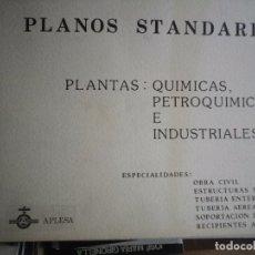 Libros: PLANOS STANDARD PLANTAS QUÍMICAS PETROLEOQUÍMICAS E INDUSTRIALES 1981 115 PAGINAS DE PLANOS . Lote 181977625
