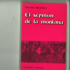 Libros: EL SERMÓN DE LA MONTAÑA. HERMAN HENDRICKX. Lote 182467336