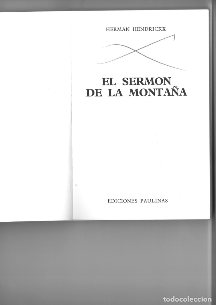 Libros: EL SERMÓN DE LA MONTAÑA. Herman Hendrickx - Foto 2 - 182467336