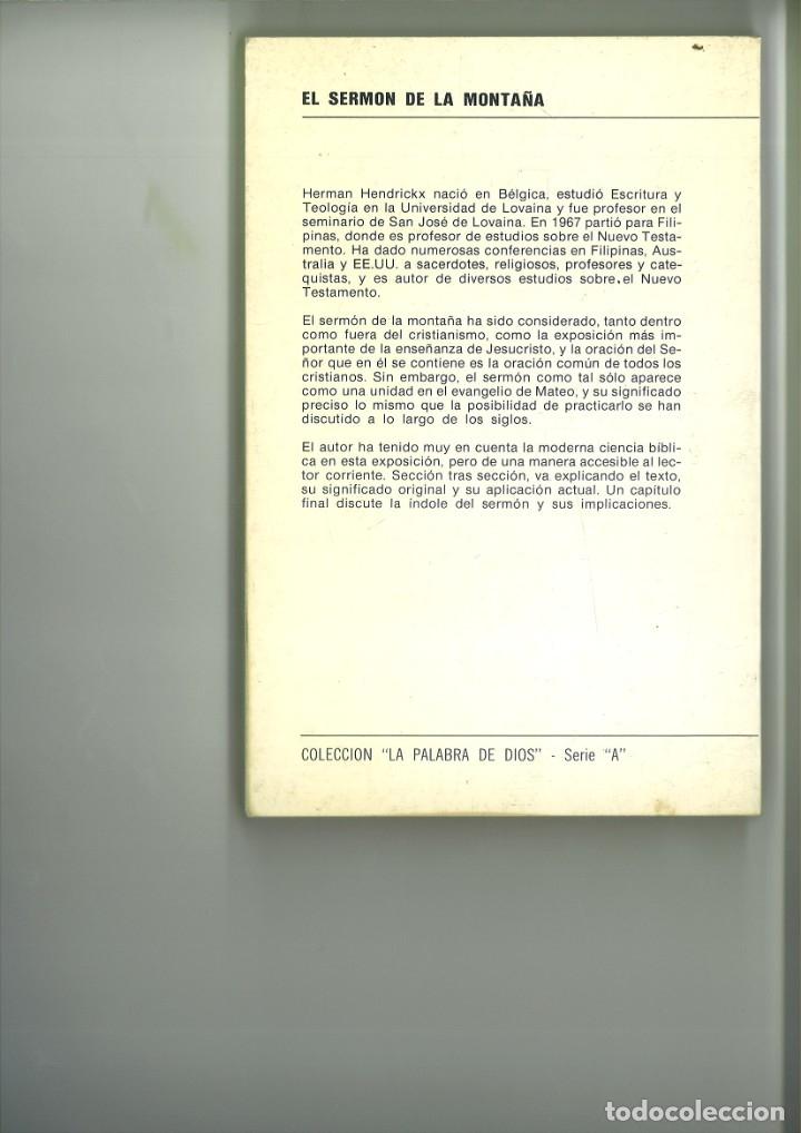 Libros: EL SERMÓN DE LA MONTAÑA. Herman Hendrickx - Foto 3 - 182467336