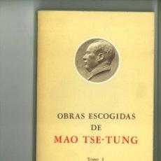 Libros: OBRAS ESCOGIDAS DE MAO TSE-TUNG. 4 VOLS.. Lote 182470432