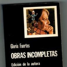 Libros: OBRAS INCOMPLETAS - GLORIA FUERTES. Lote 182534586