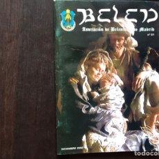 Libros: BELÉN. PUBLICACIÓN DE LA ASOCIACIÓN DE BELÉNISTAS DE MADRID. NUEVE NÚMEROS.. Lote 182553261