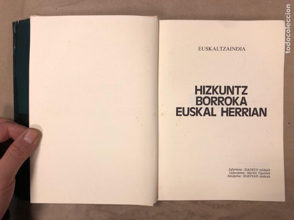Libros: HIZKUNTZ BORROKA EUSKAL HERRIAN. EUZKALTZAINDIA 1979. - Foto 3 - 182646318