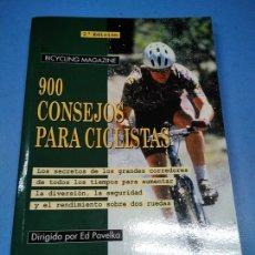 Libros: 900 CONSEJOS PARA CICLISTAS. BICYCLING MAGAZINE. ED PAVELKA (DIR). Lote 182887915