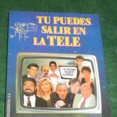 Libros: TU PUEDES SALIR EN LA TELA, DE JOSE LUIS BARCELONA - 1992 - CON DEDICATORIA DEL AUTOR. Lote 182980418