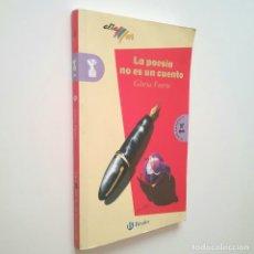 Libros: LA POESÍA NO ES UN CUENTO - GLORIA FUERTES. Lote 183187752