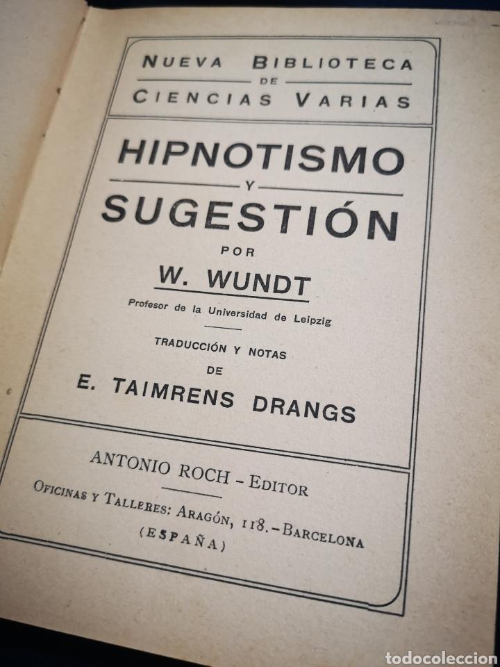 Libros: Hipnotismo y Sugestión - Wundt,W - Foto 3 - 183200852