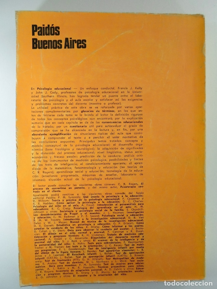 Libros: PSICOLOGÍA EDUCACIONAL UN ENFOQUE CONDUCTUAL - KELLY CODY - Foto 2 - 183234611