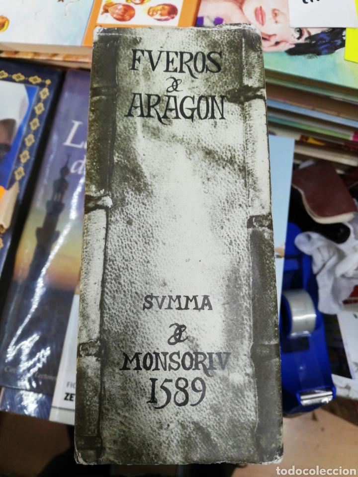 FUEROS DE ARGÓN SUMA Y MONSORIU 1589 (EDICIÓN FACSÍMIL) (Libros sin clasificar)