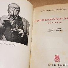 Libros: CORRESPONDENCIA 1899-1926 / PAUL CLAUDEL Y ANDRÉ GIDE / JOSÉ JANÉS EDITOR - 1952 / LIBRO DE OCASIÓN.. Lote 183501518