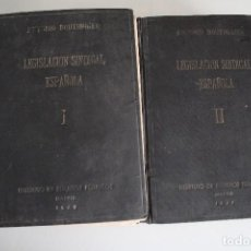 Libros: LEGISLACIÓN SINDICALISTA ESPAÑOLA ANTONIO BOUTHELIER ESPASA MADRID 1945. Lote 183544302