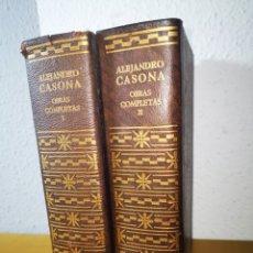 Libros: ALEJANDRO CASONA, OBRAS COMPLETAS, AGUILAR, 1966 TOMO I Y II. Lote 183943411