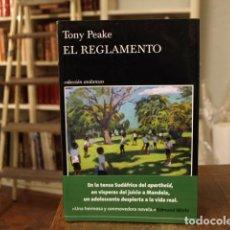 Livres: EL REGLAMENTO - TONY PEAKE. Lote 183943496