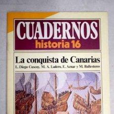Libros: LA CONQUISTA DE CANARIAS. Lote 183969932