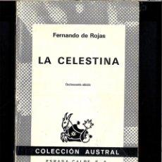 Livres: LA CELESTINA - FERNANDO DE ROJAS. Lote 109799744