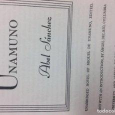 Libros: UNAMUNO ABEL SANCHEZ . Lote 183999178