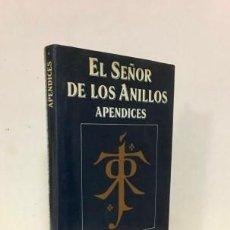 Libros: EL SEÑOR DE LOS ANILLOS. APÉNDICES - TOLKIEN, J. R. R.MASERA, RUBÉN,TR.. Lote 184070421