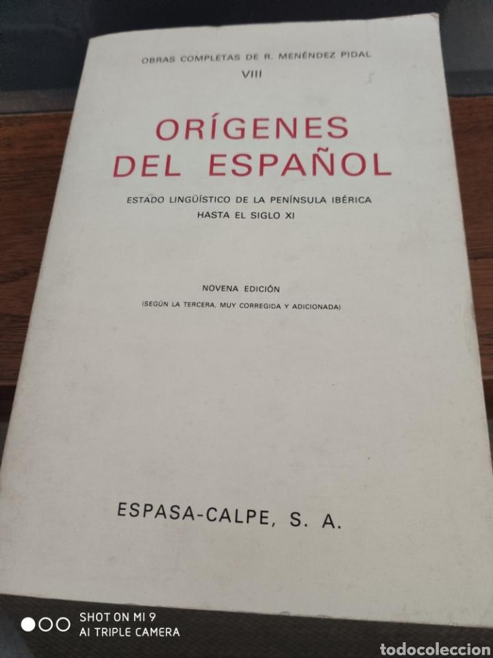ORÍGENES DEL ESPAÑOL (Libros sin clasificar)