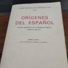 Libros: ORÍGENES DEL ESPAÑOL. Lote 184193553