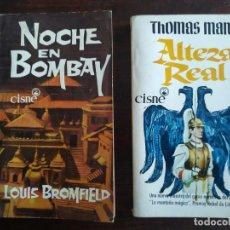 Libros: LOTE DE 2 NOVELAS DE AVENTURAS Y ACCIÓN, LA 1º NOCHE EN BOMBAY, Y LA 2º ALTEZA REAL. . Lote 184203171