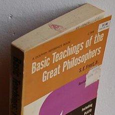 Livros em segunda mão: BASIC TEACHINGS OF THE GREAT PHILOSOPHERS. A SURVEY OF THEIR BASIC IDEAS. INCLUDING PLATP, DESCARTES. Lote 184812226