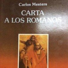 Libros: CARTA A LOS ROMANOS . Lote 185991086