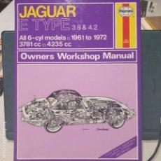 Libros: JAGUAR E TYPE 3.8 &4.2 WORKSHOP MANUAL BY HAYNES .MANUAL DEL PROPIETARIO, PERFECTO ESTADO. Lote 187394237