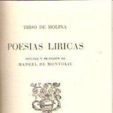 Livros em segunda mão: POESÍAS LÍRICAS - MOLINA, TIRSO DE. Lote 187582843