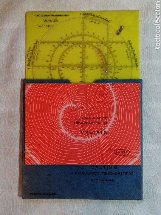 CALCULADOR TRIGONOMETRICO CALTRIG - CALCULADORA REGLA DE CALCULO SLIDE RULE ( AÑOS 70)- (Libros sin clasificar)