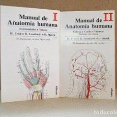 Libros: FRICK, H./ LEONHARDT, H./ STARCK, D. - MANUAL DE ANATOMÍA HUMANA (2 VOLS.). Lote 288153588