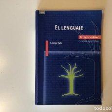 Libros: EL LENGUAJE. GEORGE YULE. EDITORIAL AKAL. TERCERA EDICIÓN CORREGIDA Y AUMENTADA. LINGUÏSTICA.. Lote 189294415