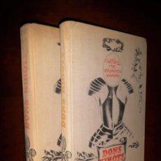 Libros: DON QUIJOTE EN LETÓN. 2 TOMOS. 1978 TAPAS DURAS. Lote 189422786